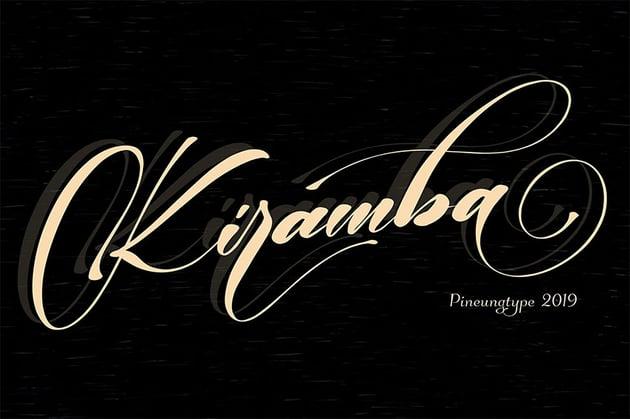 Kiramba Swash Flourish Font