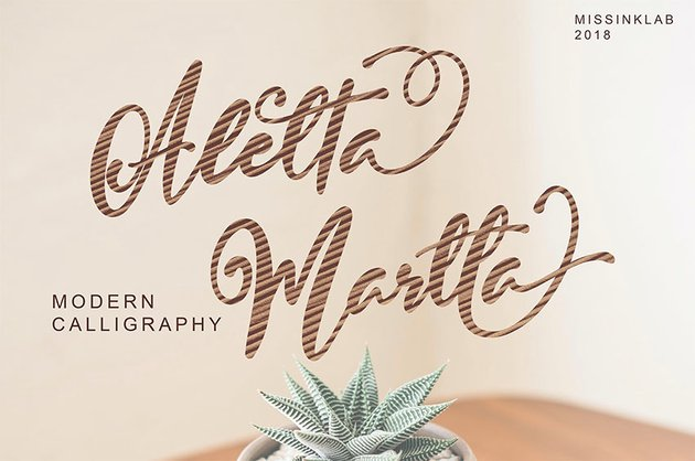 Aletta Martta Font with Calligraphy Swashes