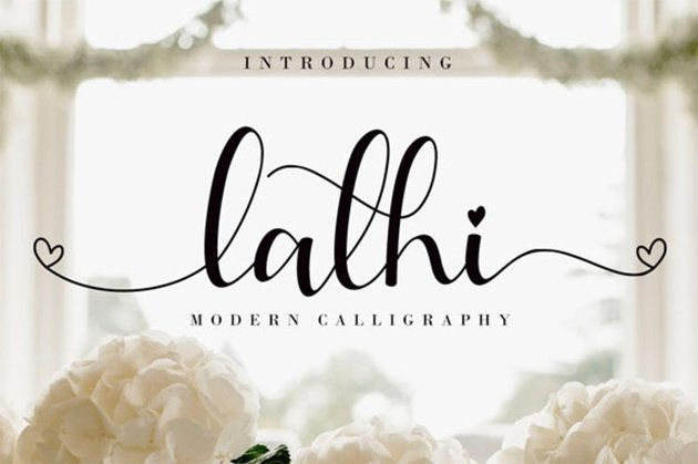 Lathi Cursive Font with Long Tails