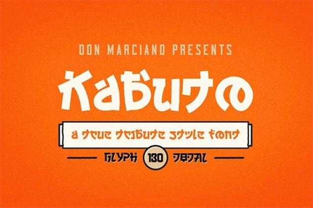 Kabuto Tribute Font