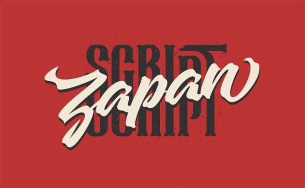 Zapan Japanese Writing Style Font
