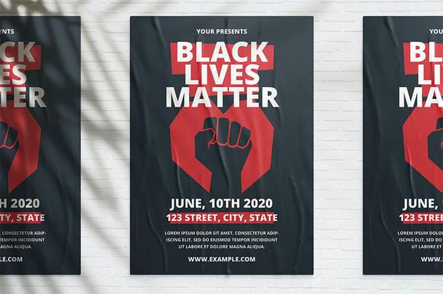Black Lives Matter Poster Design Ideas