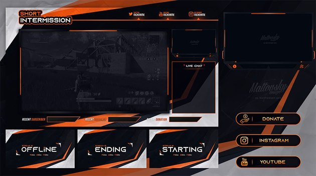 FREE TWITCH STREAM OVERLAY TEMPLATE 2019