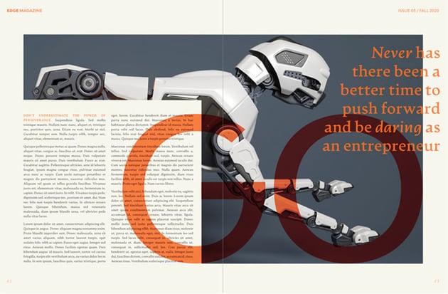 FREE Stylish Magazine Layout in Affinity Publisher