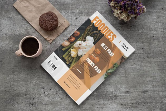 Food Fake Magazine Cover Template Photoshop