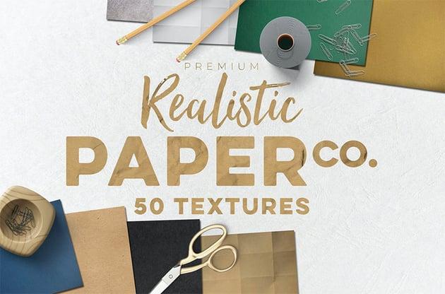 50 Paper Texture Photoshop Set