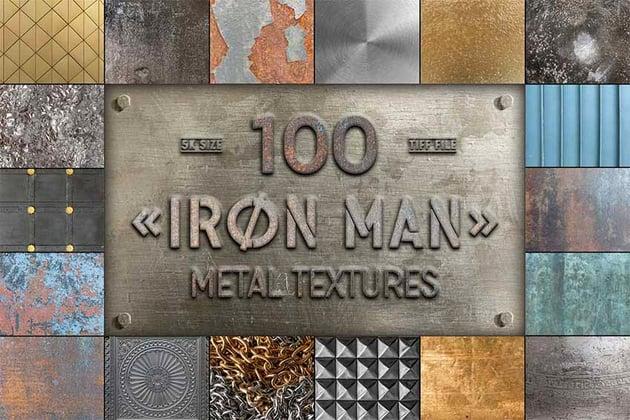 100 Metal Texture Photoshop