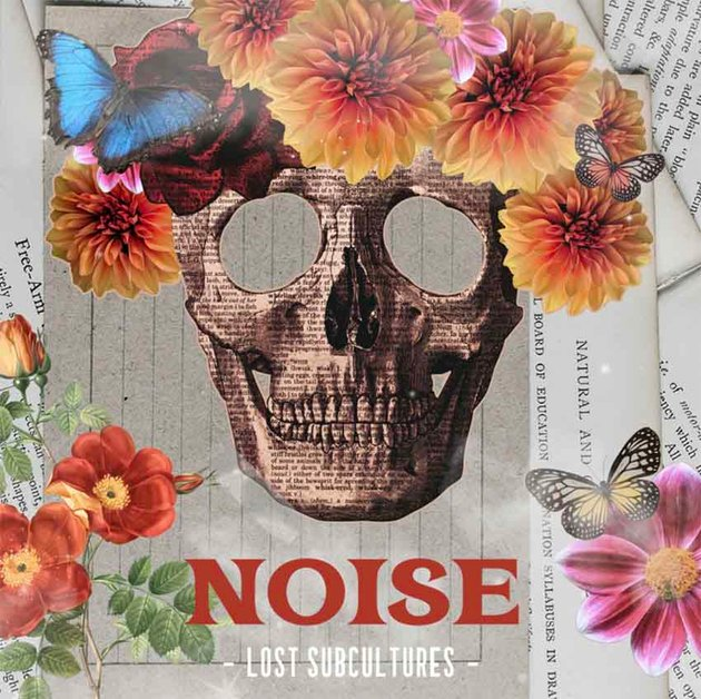 SoundCloud Album Cover Featuring Skeleton with Flowers