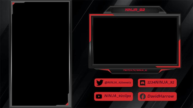 Twitch Overlay Creator for Vertical Games with Dark Themes