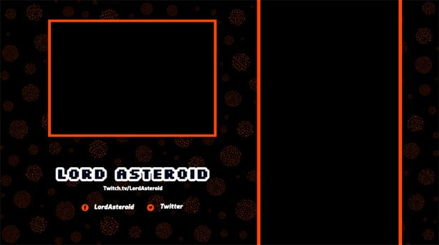 Twitch Webcam Overlay Template for Vertical Gaming