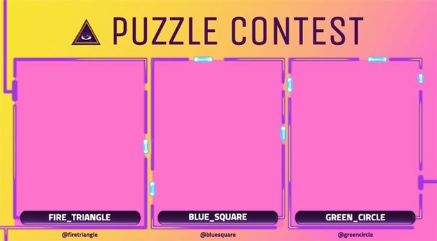 Twitch Overlay Template Featuring a Puzzle Contest
