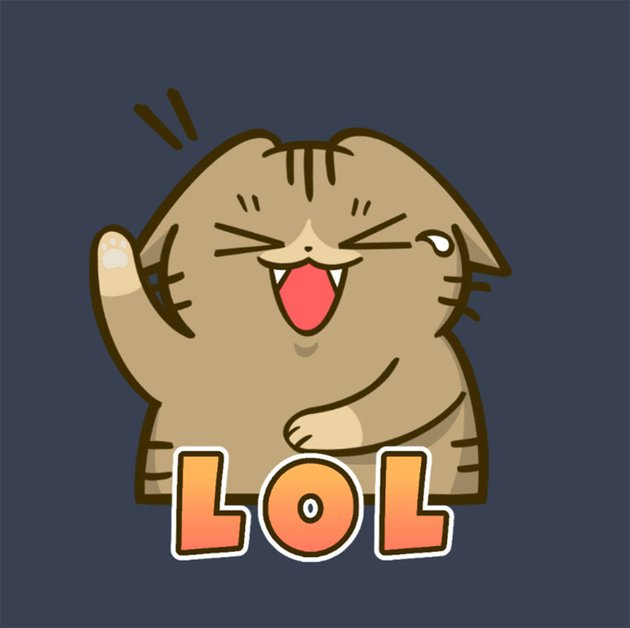 Twitch Smile Emote Featuring a Kitten Laughing Out Loud