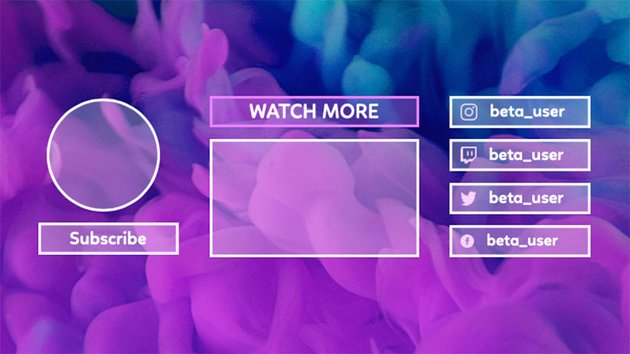 YouTube End Screen Card Generator