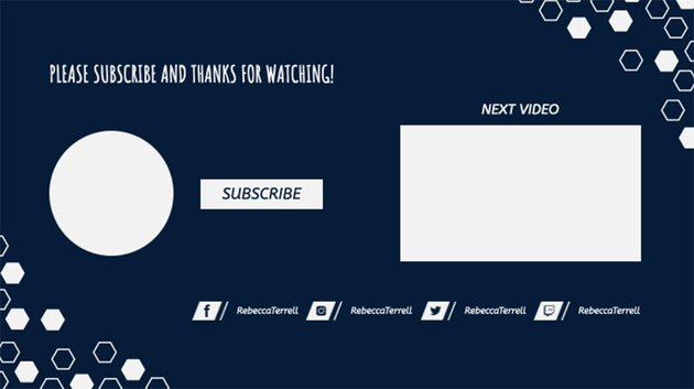 YouTube End Card Screen Dimensions with Subscribe Buttons