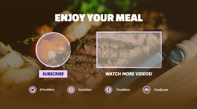 YouTube End Card Maker for Foodies