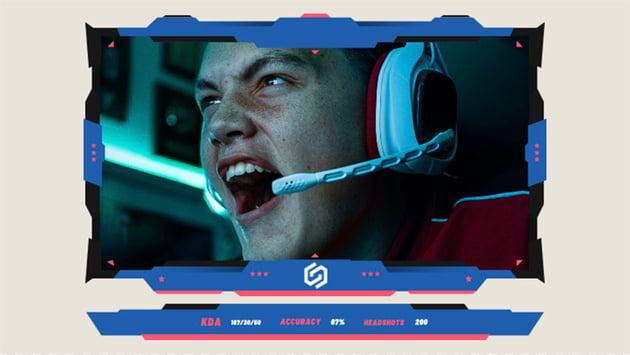 Webcam Frame PNG for Gamers