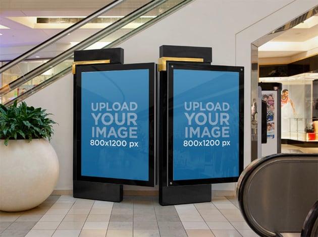 Advertising Billboard Mockup for Mall