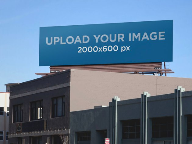 Outdoor Billboard Mockup on a Building