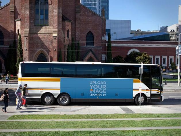 Advertise Billboard Mockup for Bus