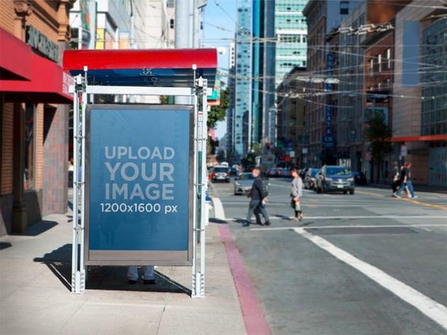 Bus Stop Ad Mockup