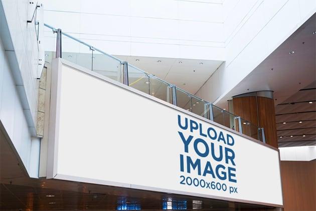 Billboard Advertising Mockup Inside a Mall