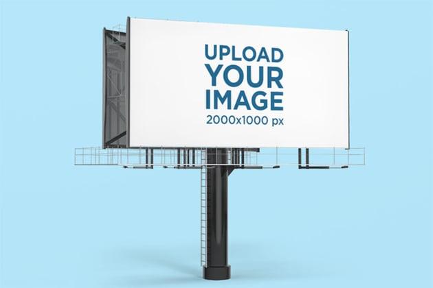Advertising Billboard Mockup against Customizable Background
