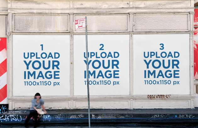 Three Wall Billboard Mockups