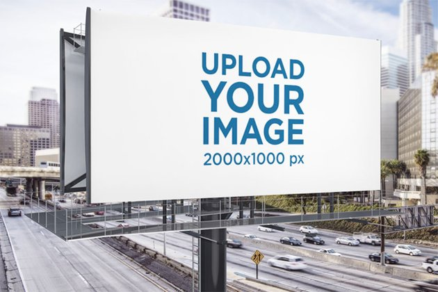 Roadside Billboard Mockup at a Busy Highway