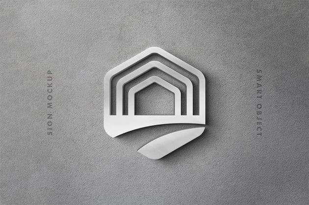 Silver 3D Mockup Download