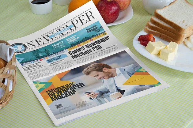 Editable Newspaper Template (PSD)
