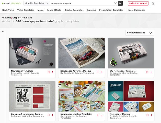 Unlimited Newspaper Template Downloads at Envato Elements