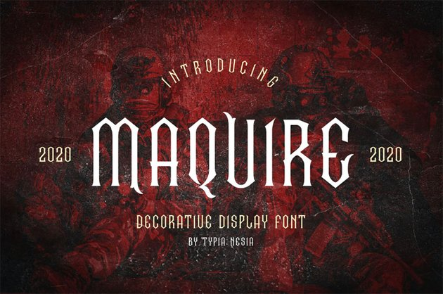 Maquire Fantasy Book Cover Fonts