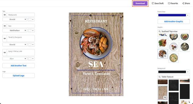 Download Your Restaurant Flyer