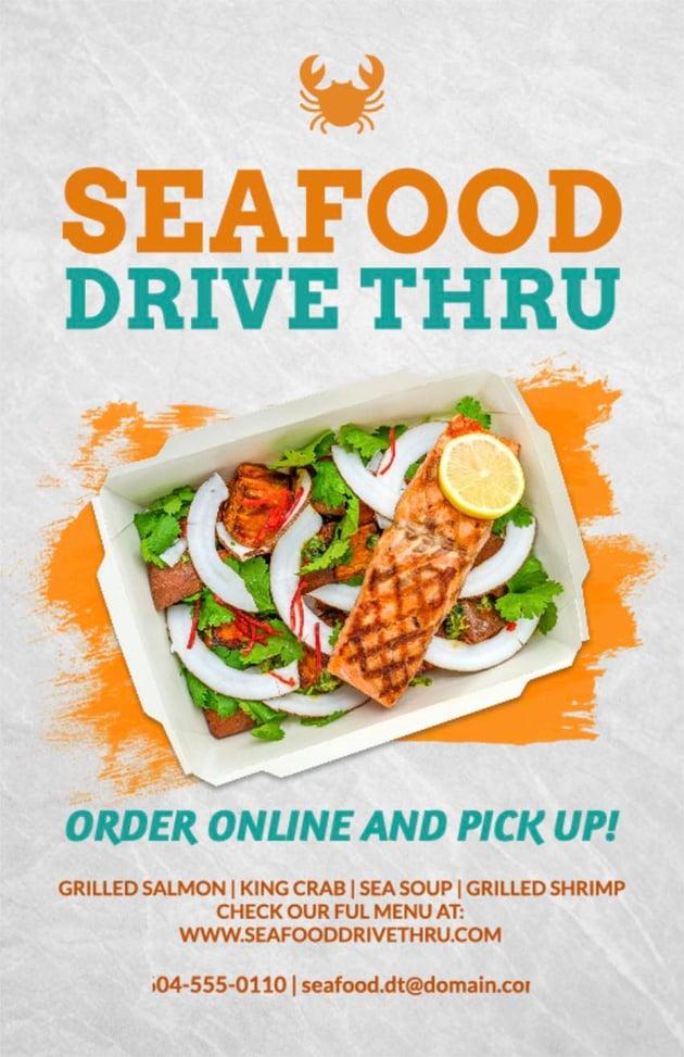 Seafood Restaurant Flyer Ideas