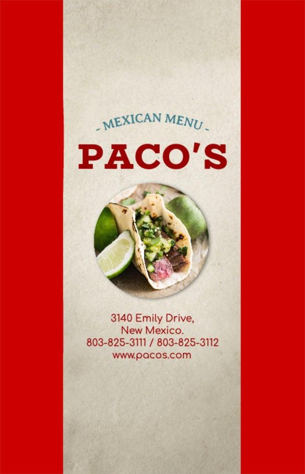 Mexican Restaurant Flyer Ideas