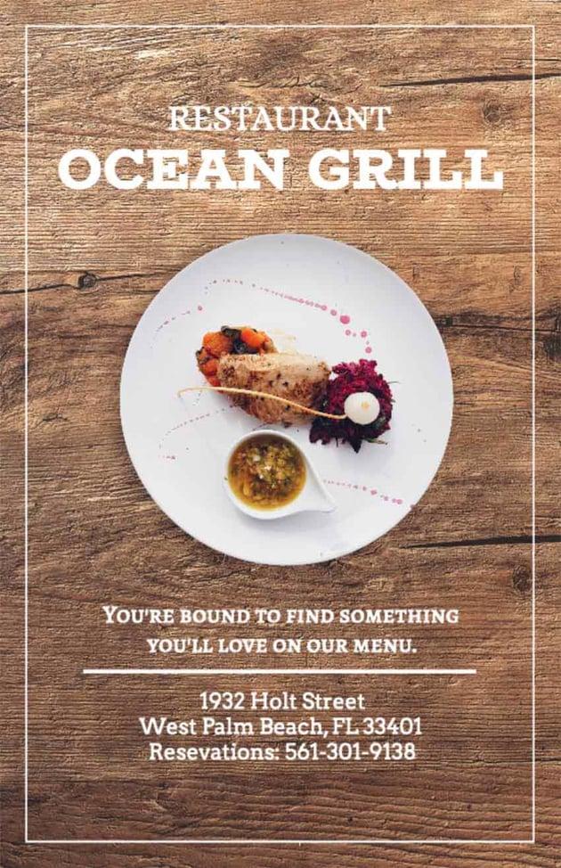 Restaurant Flyer Ideas