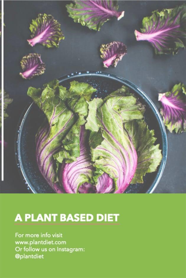 Plant-Based Restaurant Advertising Flyer