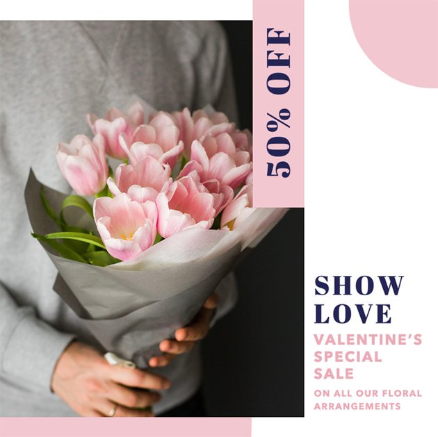 Instagram Post Templates with Flowers