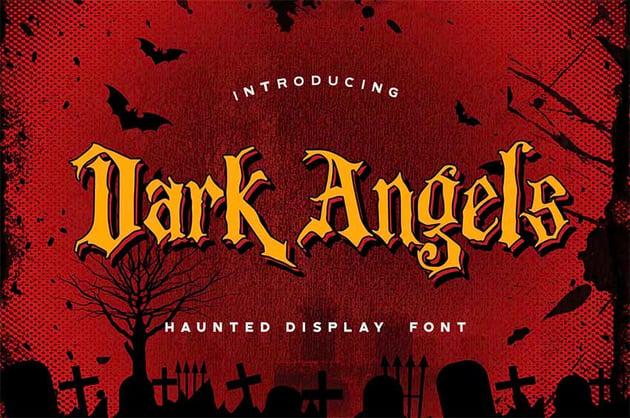 Spooky Letter Font