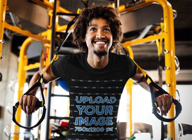 Black T-Shirt Mockup for Exercise