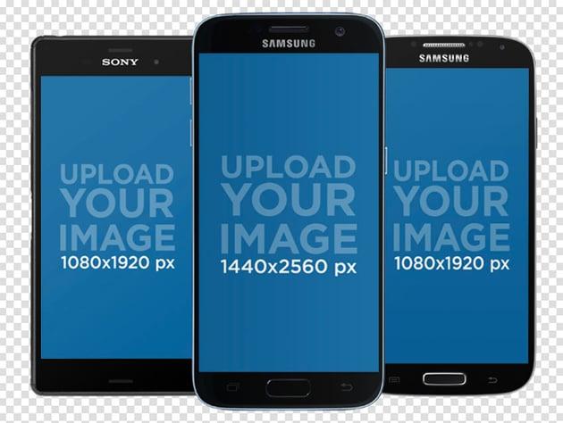 Three Android Mockups
