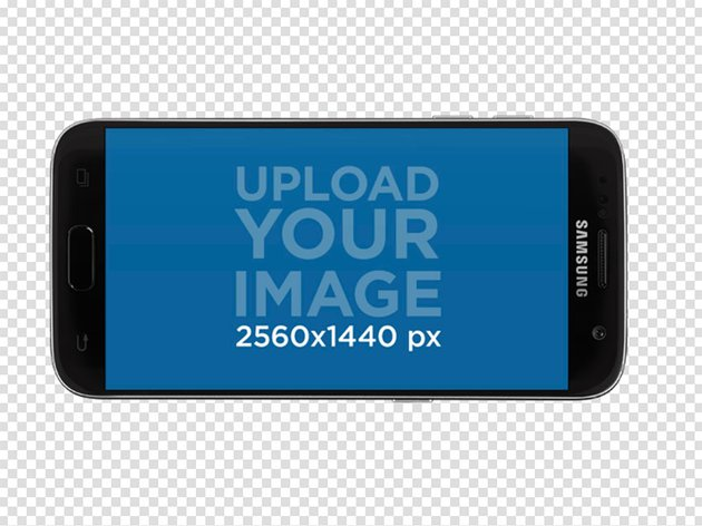 Android Phone Mockup Against Transparent Background
