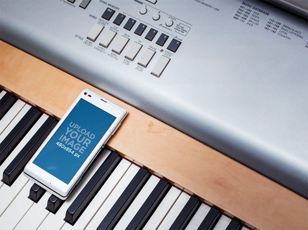 Keyboard and Cell Phone Mockups