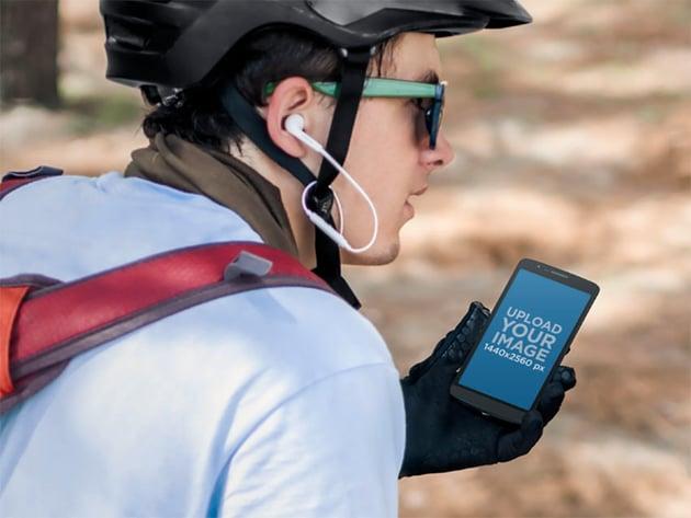 Biker and Android Mockups