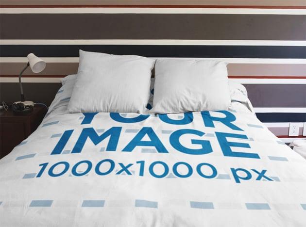 Bed Sheet Mockup