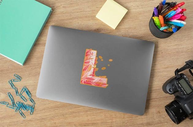 Laptop Sticker Mockup