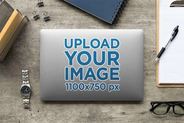 MacBook Sticker Mockup