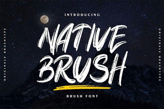 Native Brush | Brush Stroke Font