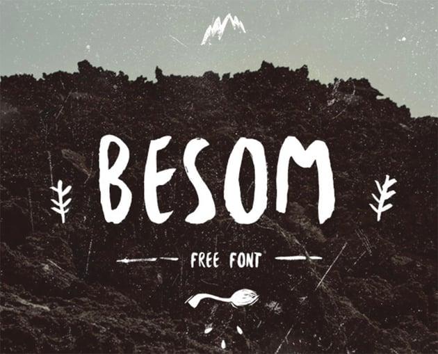 Besom Brush Stroke Font