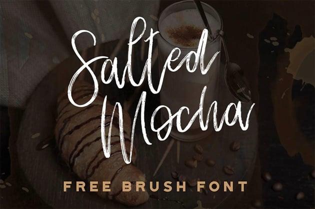 Salted Mocha Brush Script Font